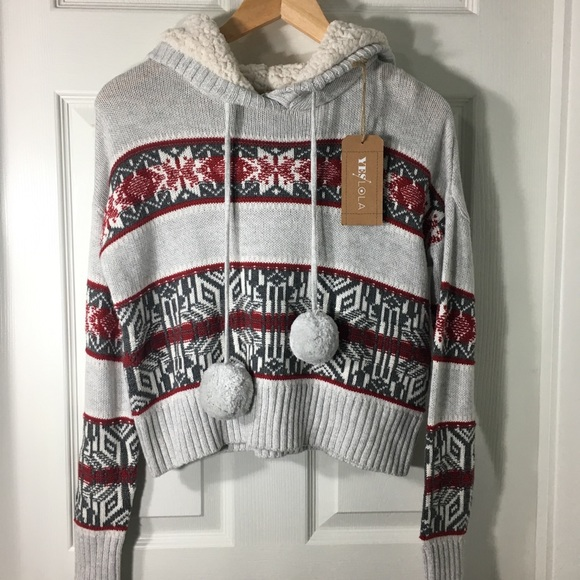 Yes Lola Sweaters - YES LOLA Snowflake Comfy Sweater